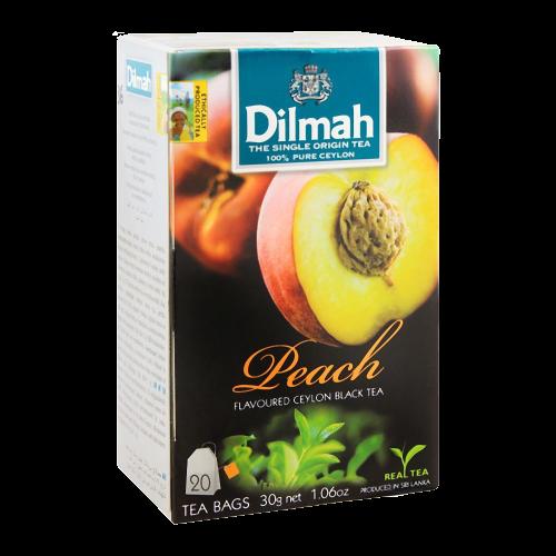 Dilmah Peach Flavoured Black Tea 20 Bags
