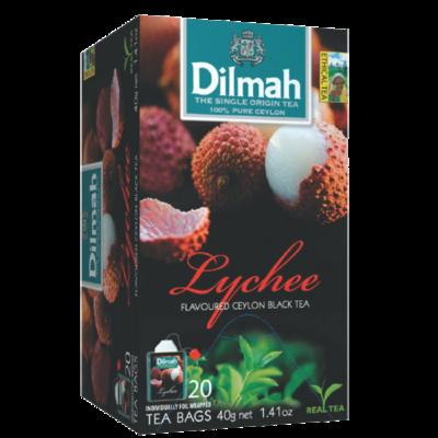 Dilmah Lychee Flavoured Black Tea 20 Bags