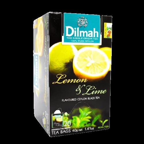 Dilmah Lemon & Lime Flavoured Black Tea 20 Bags