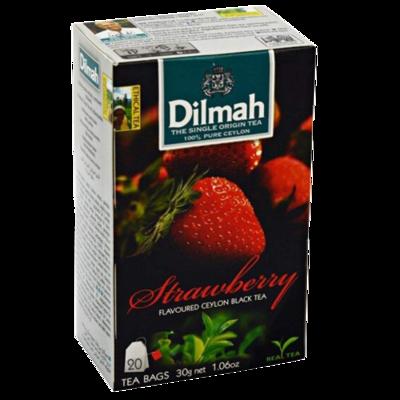 Dilmah Strawberry Flavoured Black Tea 20 Bags