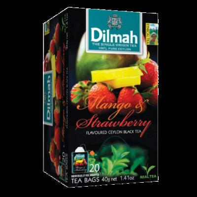 Dilmah Mango & Strawberry Flavoured Black Tea 20 Bags