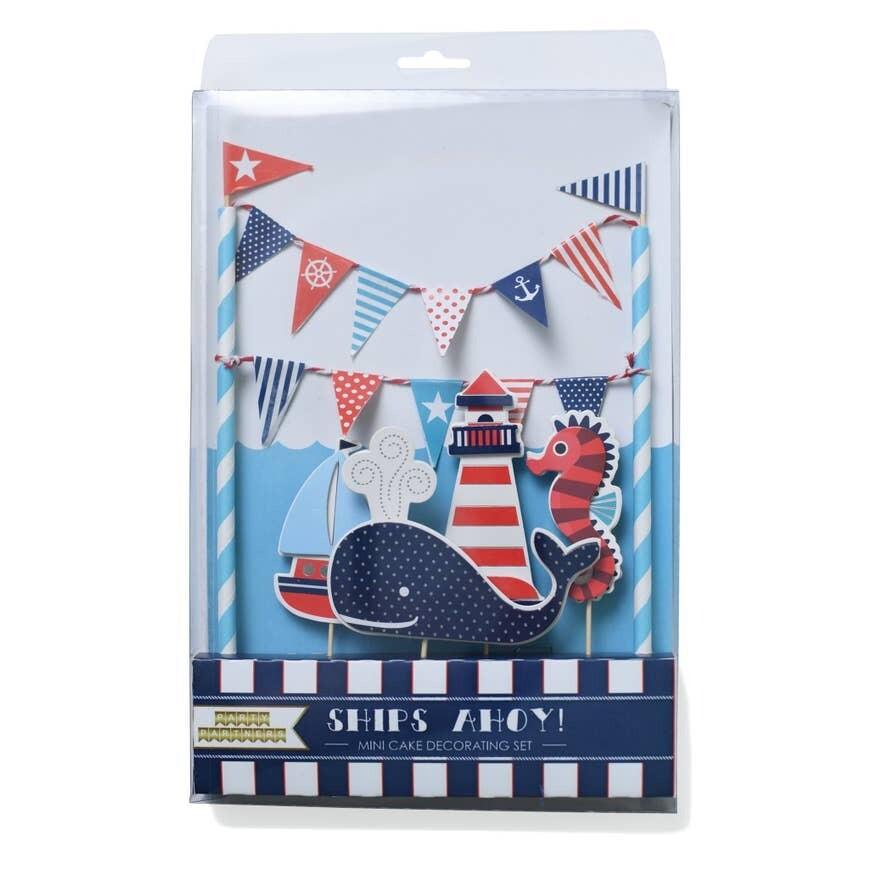 Ships Ahoy Cake Topper