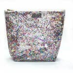 Clear Confetti Travel Bag (Large)