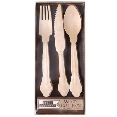 Plain Wood Bamboo Cutlery