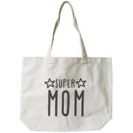 Super Mom Canvas Tote Bag