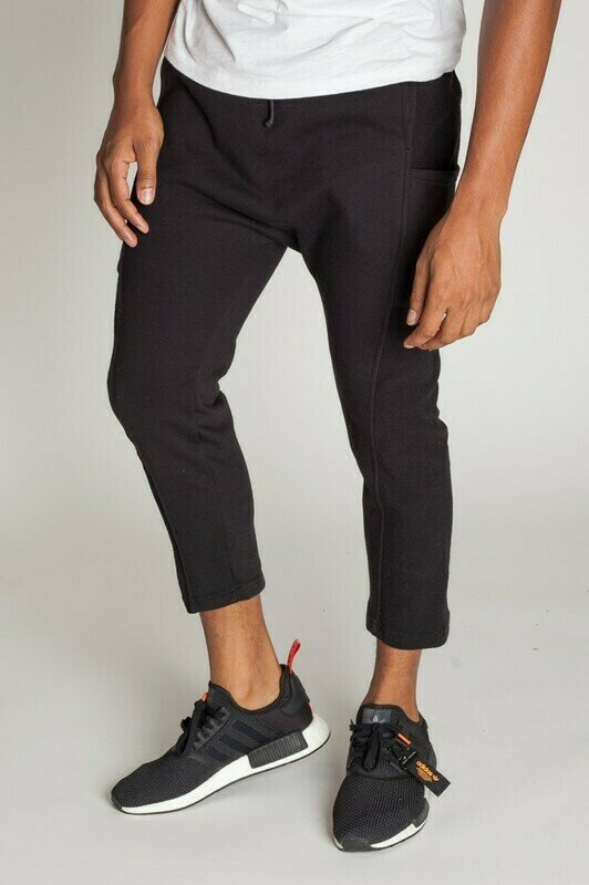 French Terry Cropped Slouchy Sweats Jogger