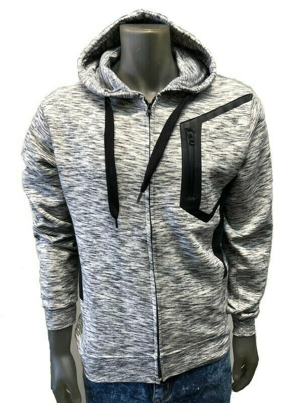 Heather Grey Fleece Hoodie