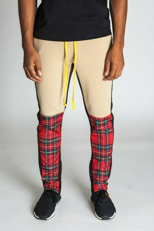 Plaid Blocked Track Pants