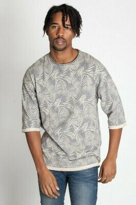 Desert Grey Men's Cut Edge Drop Shoulder Tee Slub Jersey