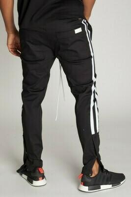 Black Stripe Snap Jogger