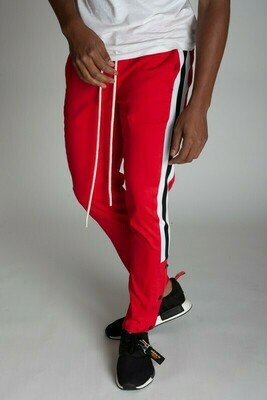Red Stripe Snap Jogger