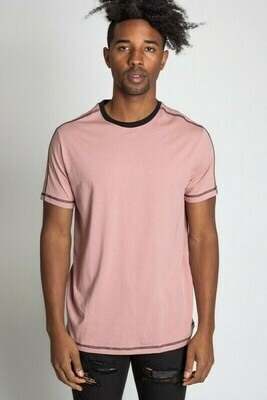 Rose Men's Cover Stitch Detailed Tee