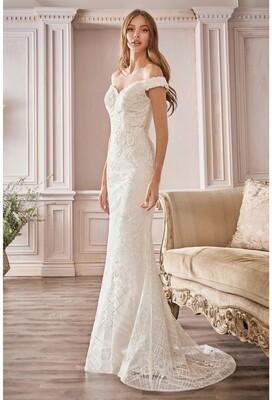 Off Shoulder Bridal Gown CD929
