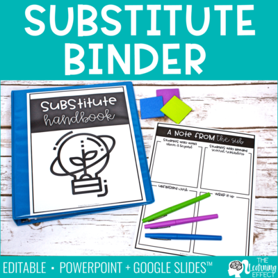 Substitute Binder Templates [Editable]