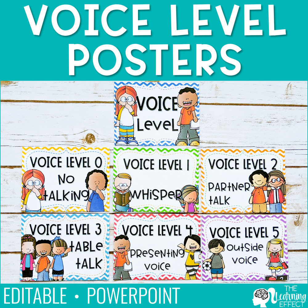 Voice Level Chart | Editable