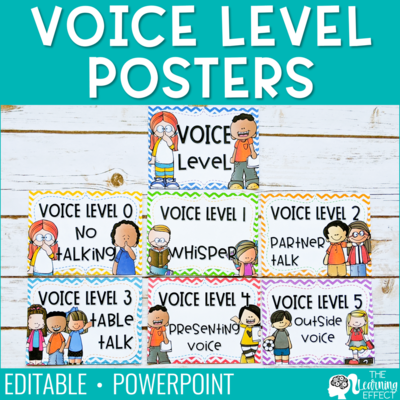 Voice Level Chart [Editable]