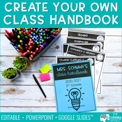 Create Your Own Class Handbook Templates [Editable]