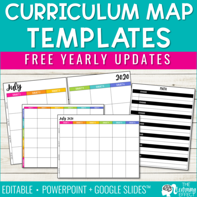 Editable Curriculum Map Template | Pacing Guide
