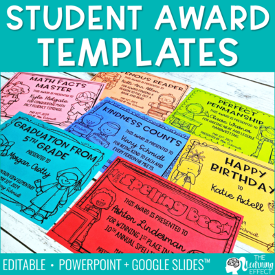 End of Year Awards Editable Templates | Print and Digital