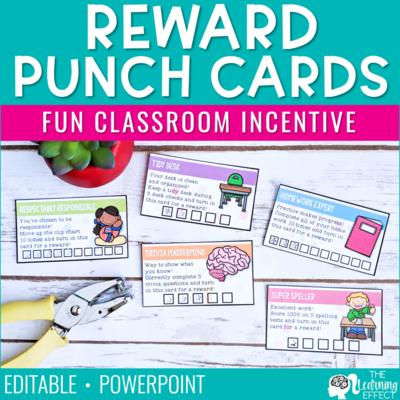 Reward Punch Cards | Editable