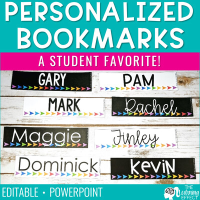 Personalized Bookmarks [Editable]