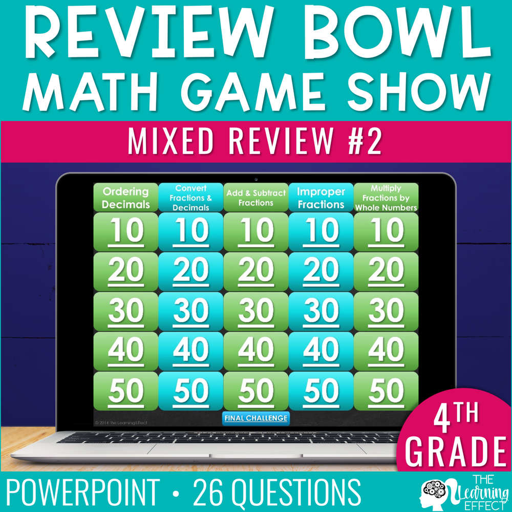 4th Grade Math Review #2 Game Show   End of Year