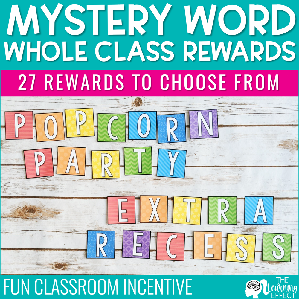 Mystery Word Whole Class Rewards