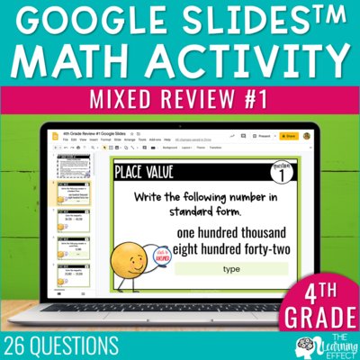 4th Grade Math Review #1 Google Slides | End of Year
