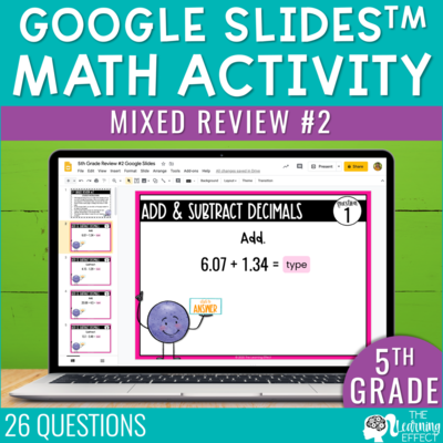 5th Grade Math Review #2 Google Slides | End of Year