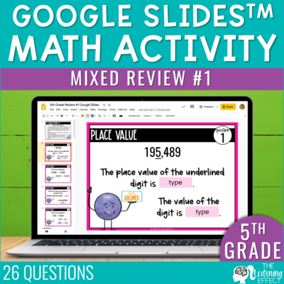 5th Grade Math Review #1 Google Slides | End of Year