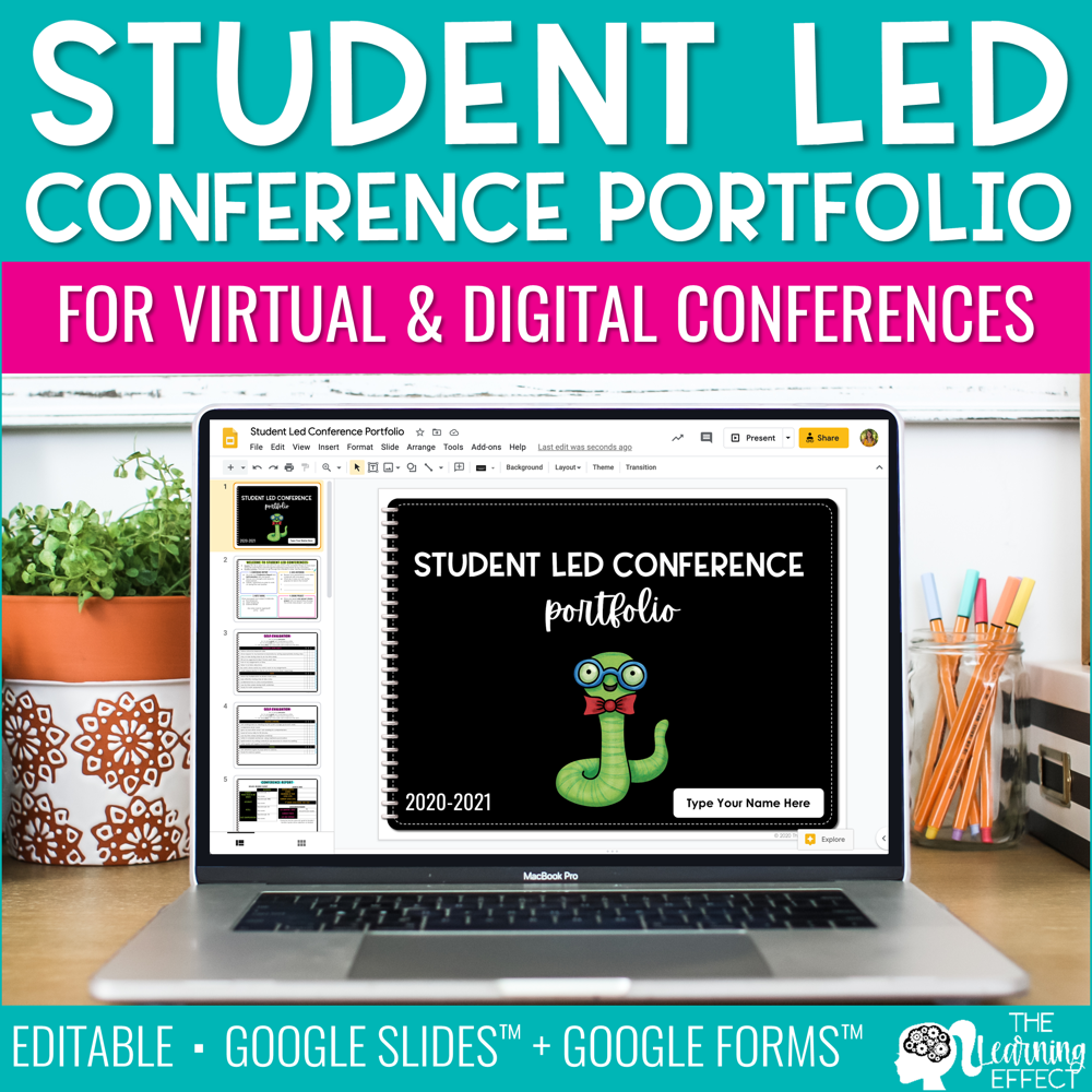 Digital Student Led Conference Editable Portfolio | Virtual Conferences