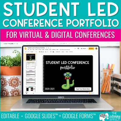 Virtual Student Led Conference Portfolio [Editable]