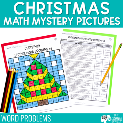 Christmas Math Mystery Pictures | Word Problems