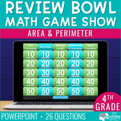 Area and Perimeter Game Show | 4th Grade Math