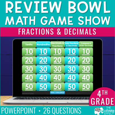 Fractions and Decimals Game Show | 4th Grade Math