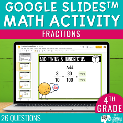 Fractions Google Slides | 4th Grade Digital Math Activity