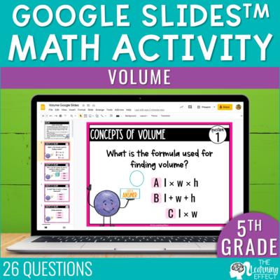 Volume Google Slides 5th Grade | Digital Math Activity