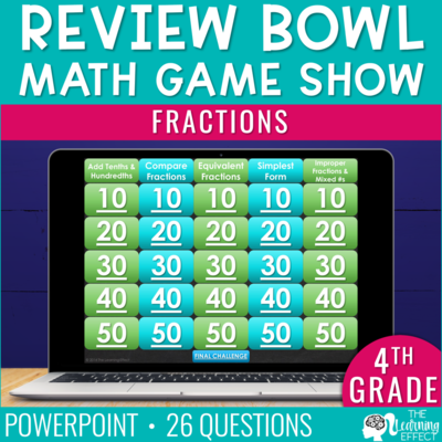 Fractions Game Show | 4th Grade Math