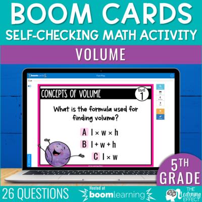 Volume Boom Cards 5th Grade   Digital Math Activity