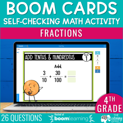Fractions Boom Cards | 4th Grade Digital Math Activity