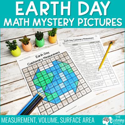 Earth Day Math Mystery Pictures | Measurement and Volume