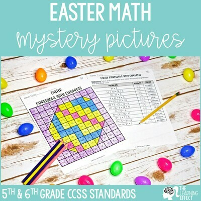 Easter Math Mystery Pictures   Expressions GCF LCM