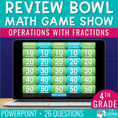 Operations with Fractions Game Show | 4th Grade Math