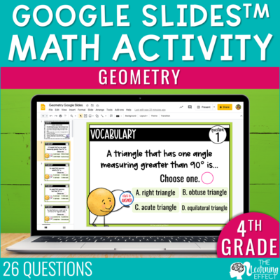 Geometry Google Slides | 4th Grade Digital Math Activity