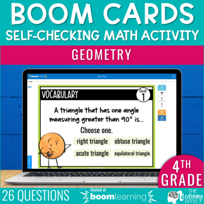 Geometry Boom Cards | 4th Grade Digital Math Activity