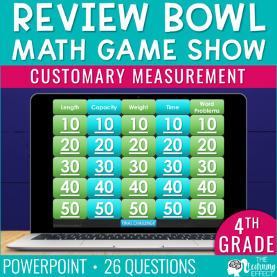 Customary Measurement Game Show | 4th Grade Math
