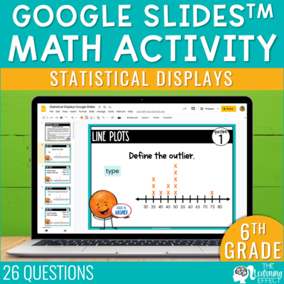 Statistical Displays Google Slides | 6th Grade Digital Math Activity