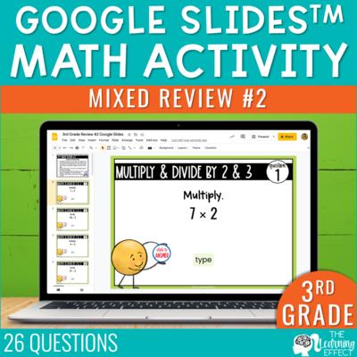 3rd Grade Math Review #2 Google Slides End of Year | Digital Math Activity