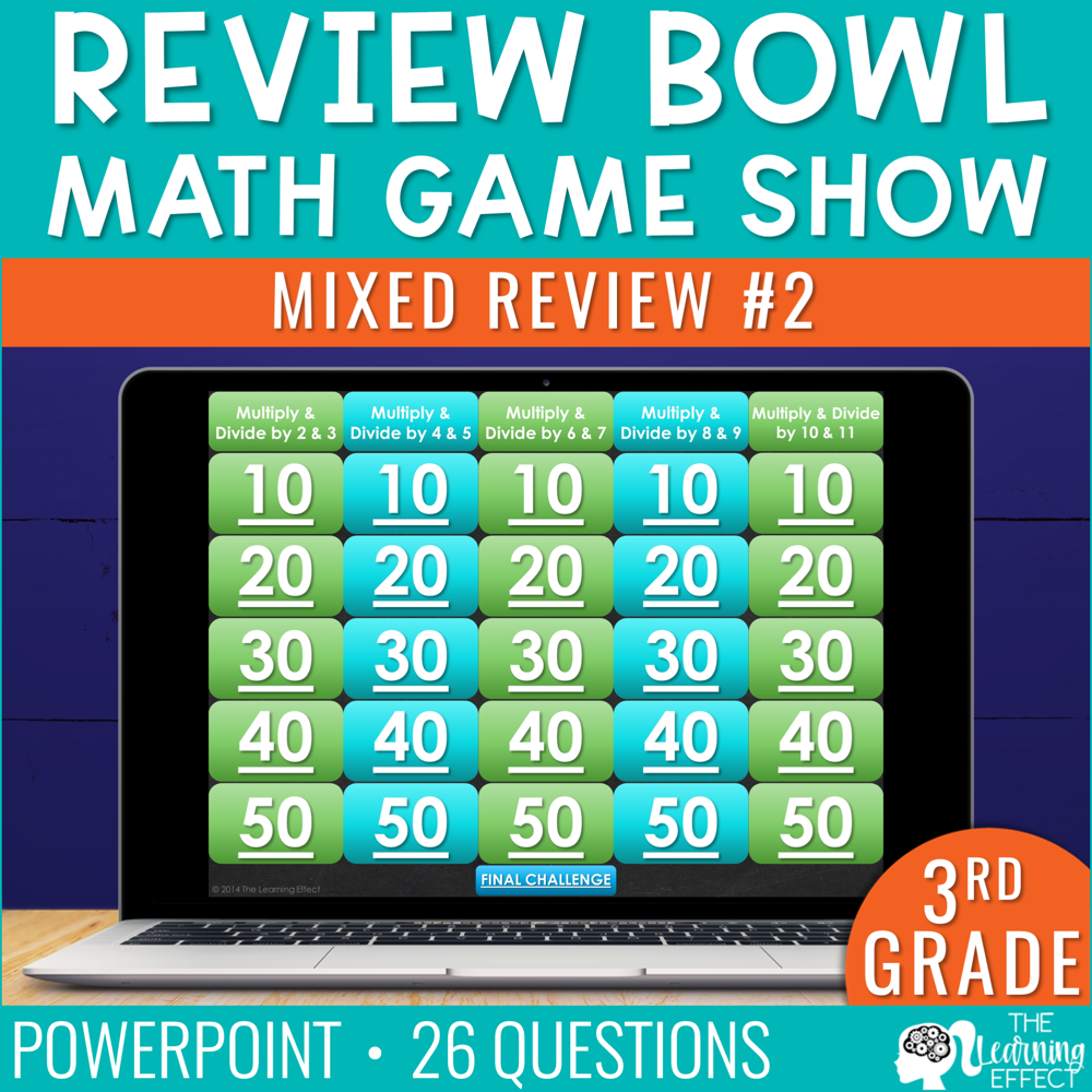 3rd Grade Math Review #2 Game Show End of Year