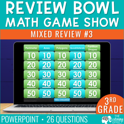 3rd Grade Math Review #3 Game Show End of Year